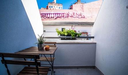 Hebergement Local Les Maisons Longue Duree T1 Portugal Lisbonne Vila Marques Casa Do Aqueduto Balcon Pateodasbuganvilias